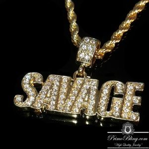 PrimoBling.com Accessories - 14k Gold Plated 21 Savage Hip Hop Necklace Set